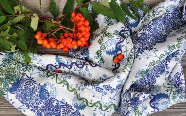 Trachten Halstücher handbedruckt, in unterschiedlichen Farben erhätlich